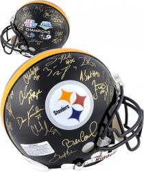 Pittsburgh Steelers Super Bowl XL and XLIII Signed Helmet