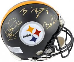 Ben Roethlisberger, Jerome Bettis and Bill Cowher Pittsburgh Steelers Super Bowl XL Autographed Pro-Line Riddell Authentic Helmet