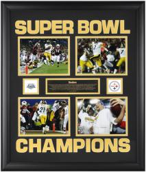 Pittsburgh Steelers Super Bowl XLIII Champions 4-6'' x 8'' Photo Collage - Mounted Memories