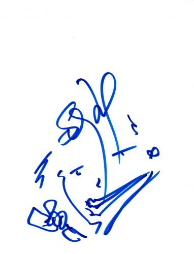 Stefan Lessard Signed Autograph 8.5x11 Hand Drawn Sketch DAVE MATTHEWS Band COA