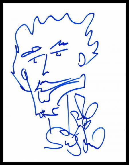 Stefan Lessard Signed Autograph Hand Drawn Sketch - Dave Matthews Band Very Rare