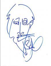 Stefan Lessard Signed Autograph Hand Drawn Sketch DMB Dave Matthews Band COA VD