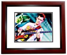Stefan Lessard Signed - Autographed DMB Dave Matthews Band Guitarist 8x10 Photo MAHOGANY CUSTOM FRAME