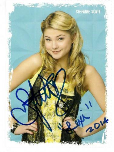 Stefanie Scott Signed & Inscribed Disney A.N.T. Farm Promo 4x6  Photo