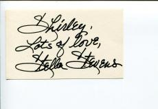 Stella Stevens Nutty Professor Poseidon Adventure Flamingo Road Signed Autograph