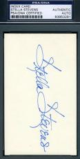 Stella Stevens Psa/dna Hand Signed 3x5 Index Card Authenticated Autograph