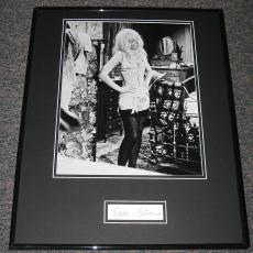Stella Stevens SEXY Stockings Signed Framed 16x20 Photo Display JSA
