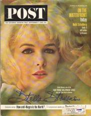 Stella Stevens Signed 1963 Saturday Evening Post PSA
