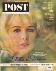 Stella Stevens Signed 1963 Saturday Evening Post PSA/DNA COA Auto'd Autograph