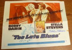Stella Stevens Signed Original 1961 Too Late Blues Poster PSA/DNA COA 22x28 Auto