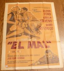 Stella Stevens Signed Original 1966 El Mal Rage 27x37 Poster PSA/DNA COA Auto'd