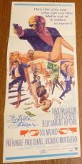 Stella Stevens Signed Original 1968 Sol Madrid 14x36 Poster PSA/DNA COA Auto'd