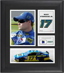 "Ricky Stenhouse, Jr. Framed 15"" x 17"" Collage with Race-Used Tire"