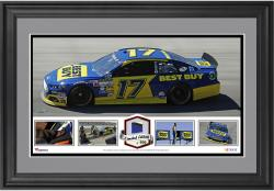 Ricky Stenhouse Jr. Framed Panoramic with Race-Used Tire-Limited Edition of 500 - - Mounted Memories