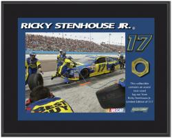 Ricky Stenhouse Jr. Sublimated 8'' x 10'' Plaque with Lug Nut-Limited Edition of 517 - Mounted Memories