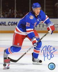 "Derek Stepan New York Rangers Autographed 8"" x 10"" Vertical Blue Uniform Photograph"