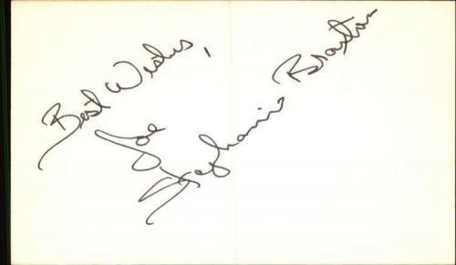 "STEPHANIE BRAXTON THE EDGE OF NIGHT Signed 3""x5"" Index Card"