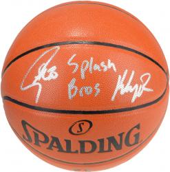 Stephen Curry and Klay Thompson Autographed Indoor/Outdoor Basketball with Splash Bros Inscription
