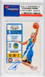 Stephen Curry Golden State Warriors Autographed 2010-11 Playoff Contenders #8 Card