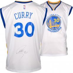 Stephen Curry Golden State Warriors Autographed White Replica Adidas Jersey