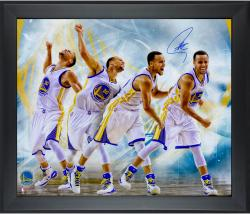 "Stephen Curry Golden State Warriors Framed and Autographed Multi Exposure 20"" x 24"" Photograph"
