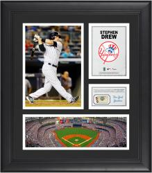 Stephen Drew New York Yankees Framed 15'' x 17'' Collage with Piece of Game-Used Ball