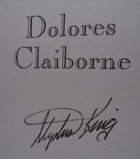 SIGNED DOLORES CLAIBORNE BY STEPHEN KING VG 1ST/1ST EDITION INSCRIBED!