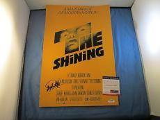 Stephen King Signed 12x18 The Shining Movie Poster PSA DNA COA Autograph Author
