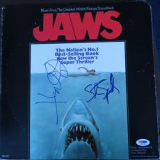 Stephen Spielberg/Richard Dreyfuss Signed Jaws Auto Album Cover PSA/DNA #S96934
