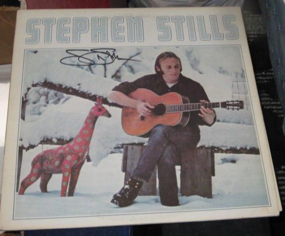 """Stephen Stills Csny Buffalo Springfield Signed """"stephen Stills"""" Album Jsa Q41214"""