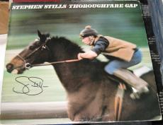 Stephen Stills Csny Buffalo Springfield Signed Thoroughfare Gap Album Jsa Q41215