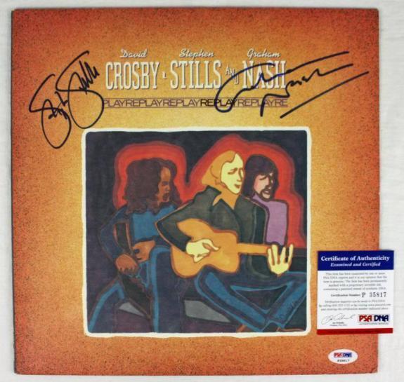 Stephen Stills & Graham Nash Signed Album Cover PSA/DNA #P35817