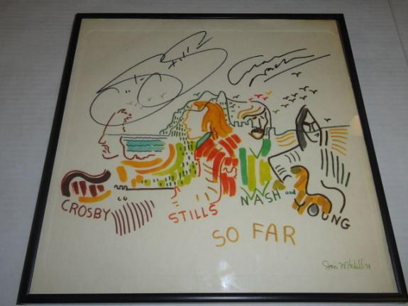 "Stephen Stills Graham Nash Signed Framed ""so Far"" Album Csny Young Jsa Coa"