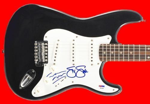 Stephen Stills & Graham Nash Signed Guitar Autographed PSA/DNA #T51353