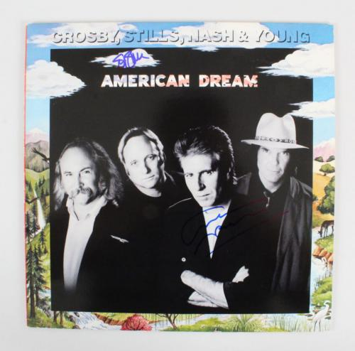 Stephen Stills & Graham Nash Signed Record Album – COA JSA