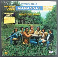 Stephen Stills Manassas Signed 'Down The Road' Album Cover W/ Vinyl PSA #AB81066