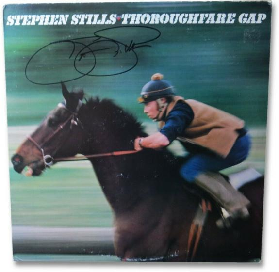 Stephen Stills Signed Autographed Album Cover Thoroughfare Gap JSA EE19953