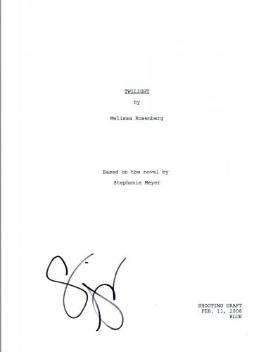 Stephenie Meyer Signed Autographed TWILIGHT Full Movie Script COA VD