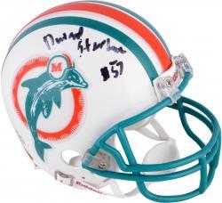 Dwight Stephenson Miami Dolphins Autographed Riddell Mini Helmet