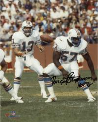 "Dwight Stephenson Miami Dolphins Autographed 8"" x 10"" with Dan Marino Photograph with HOF 98 Inscription"
