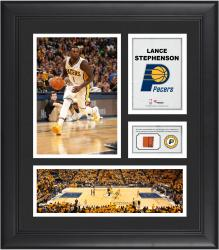 """Lance Stephenson Indiana Pacers Framed 15"""" x 17"""" Collage with Team-Used Ball"""