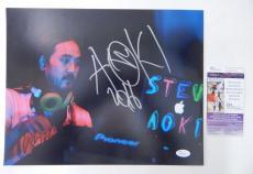 Steve Aoki Signed 11 x 14 Color Photo Producer DJ Pose #3 JSA Auto