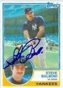 Steve Balboni autographed baseball card (New York Yankees) 1983 Topps #8