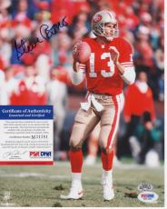 Steve Bono San Francisco 49ers Signed AUTOGRAPH 8 x10 Photo PSA DNA