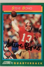 Steve Bono SF 49ers UCLA Autographed 1992 Score #313 Signed Card 16J