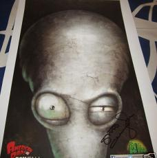 Steve Callaghan autographed signed auto American Dad 2013 Comic-Con SDCC poster
