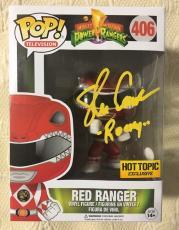 Steve Cardenas Signed Autographed Metallic Red Ranger  Funko Pop JSA COA 3