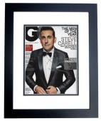 Steve Carell Signed - Autographed GQ Cover 8x10 inch Photo BLACK CUSTOM FRAME - Guaranteed to pass PSA or JSA