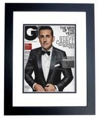 Steve Carell Signed - Autographed GQ Cover 8x10 Photo BLACK CUSTOM FRAME