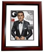 Steve Carell Signed - Autographed GQ Cover 8x10 inch Photo MAHOGANY CUSTOM FRAME - Guaranteed to pass PSA or JSA